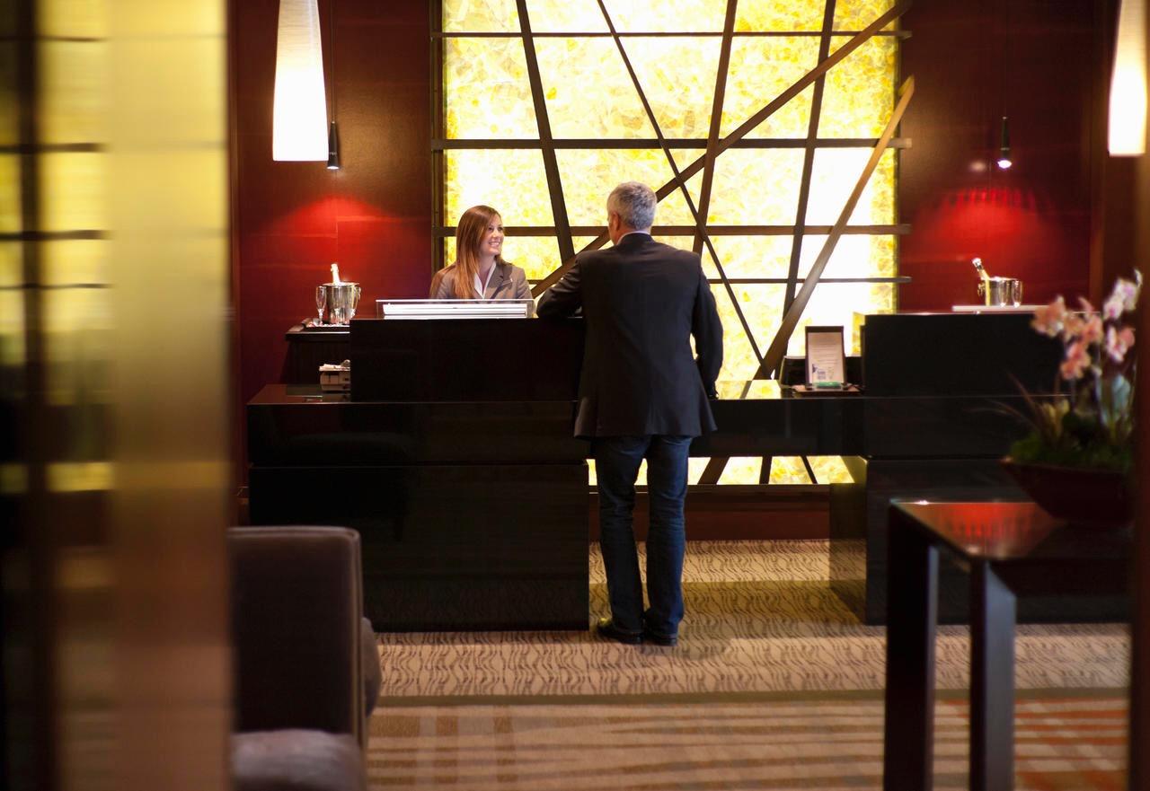 Reception di un hotel
